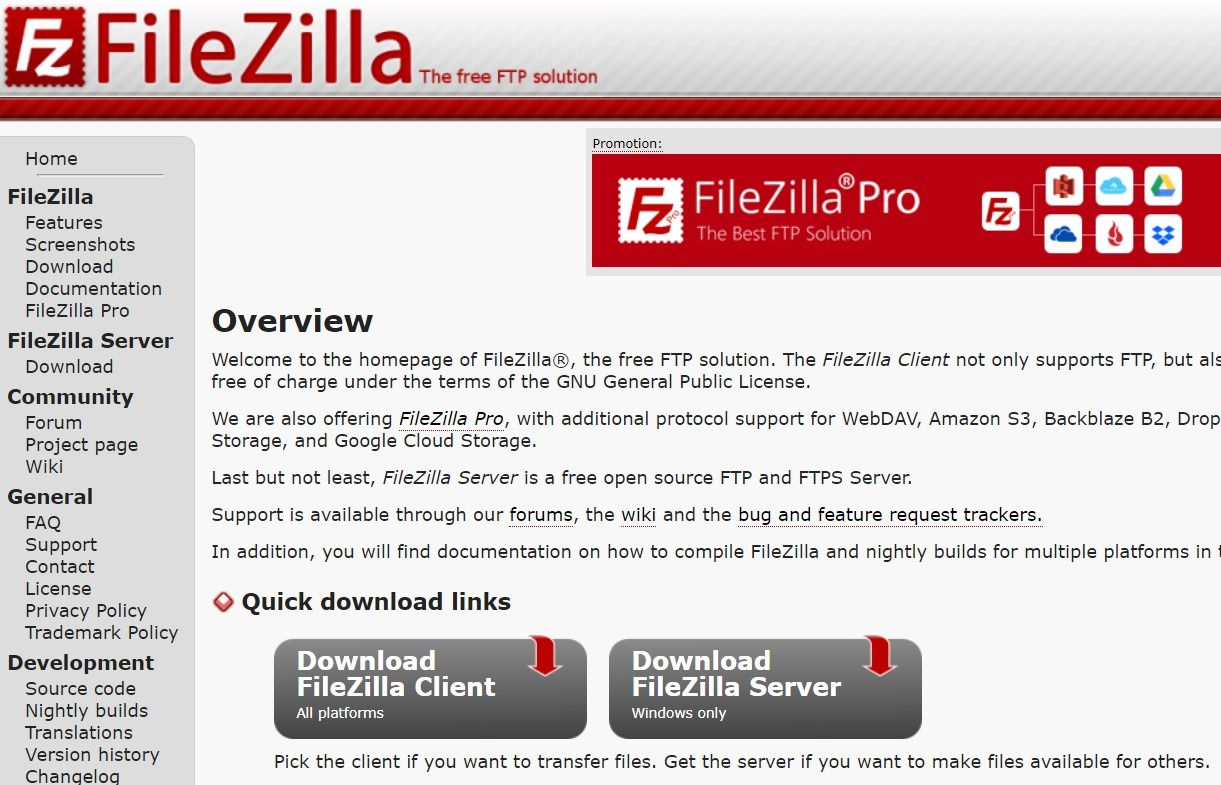 Install FileZilla