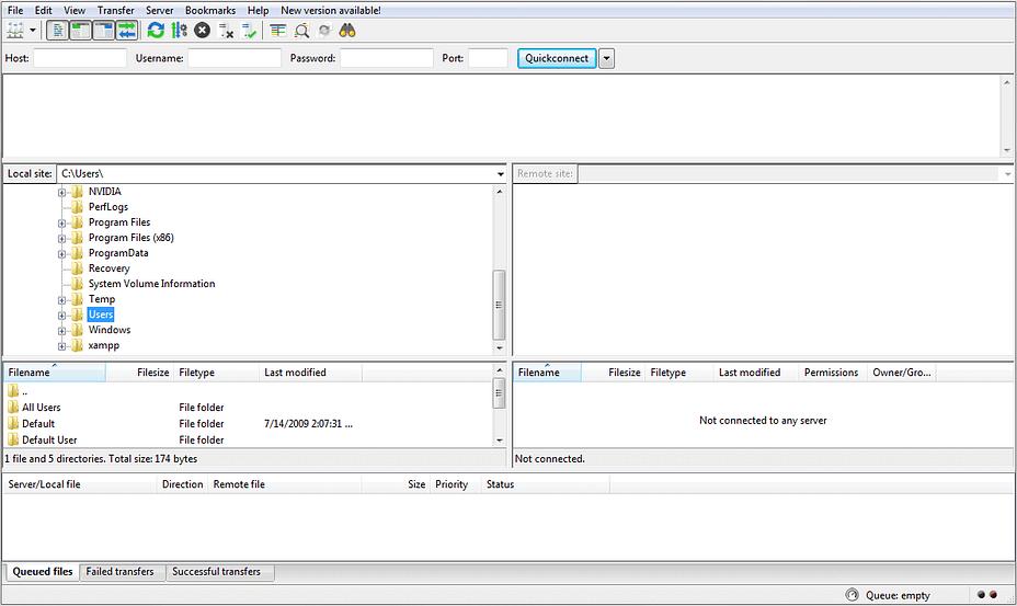 FTP interface