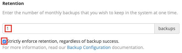 select how many backups