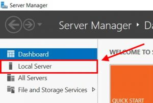 how to click local server