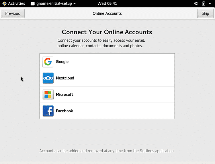 Connect to online accounts