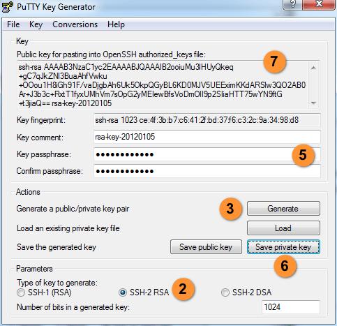 generate private ssh key