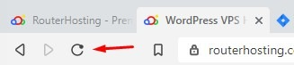 refresh button in browser