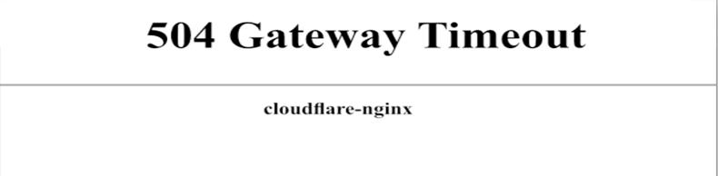 504 gateway timeout cloudflare
