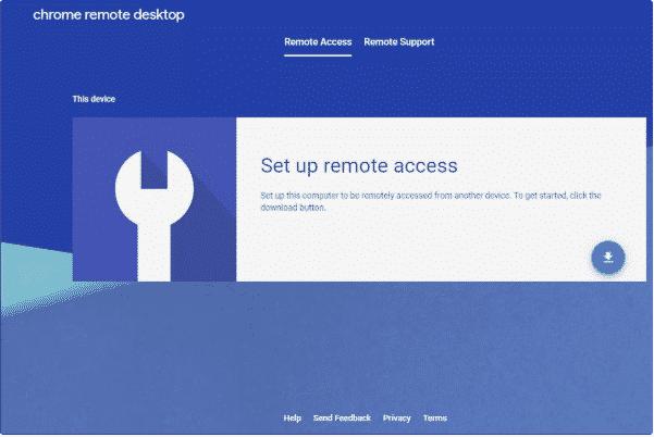 click on download the chrome remote desktop